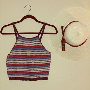 Forever 21 Red, White, and Blue Crop Top